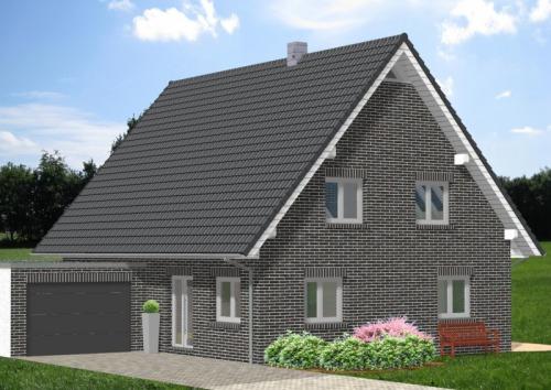 Einfamilienhaus HG 168 mit einem Pultdach